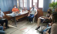 Técnicos do município e Alto Uruguai durante apresentação do Plano de Trabalho do PMSB