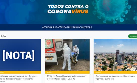 Painel Coronavírus dá mais transparência às ações da Prefeitura no combate da pandemia