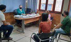 Secretária Rosa Arruda reunida com técnicos da Semmarh