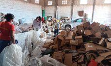 Destaque para o papelão com 15 toneladas no mês de setembro