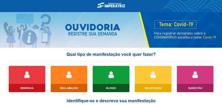 Cidadãos podem enviar demandas sobre coronavírus através de site para Ouvidoria