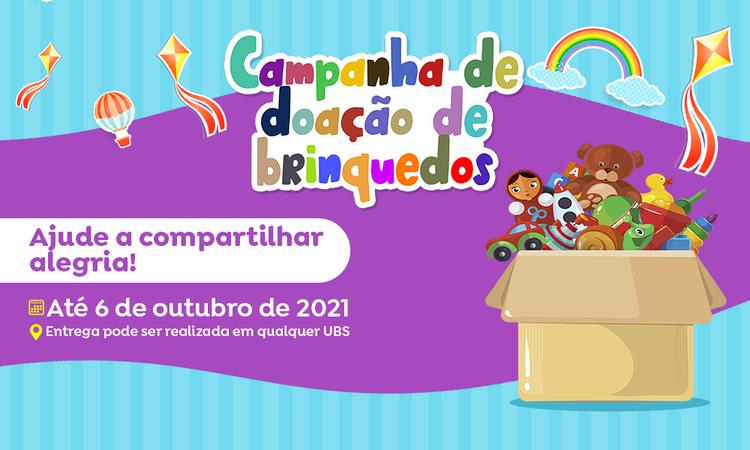 Atenção Básica realiza campanha de arrecadação de brinquedos para o Dia das Crianças