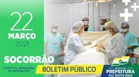 Boletim Socorrão - 22 de março