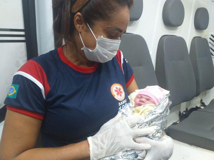 Equipe do SAMU 192 atende paciente em trabalho de parto no Povoado Coquelândia