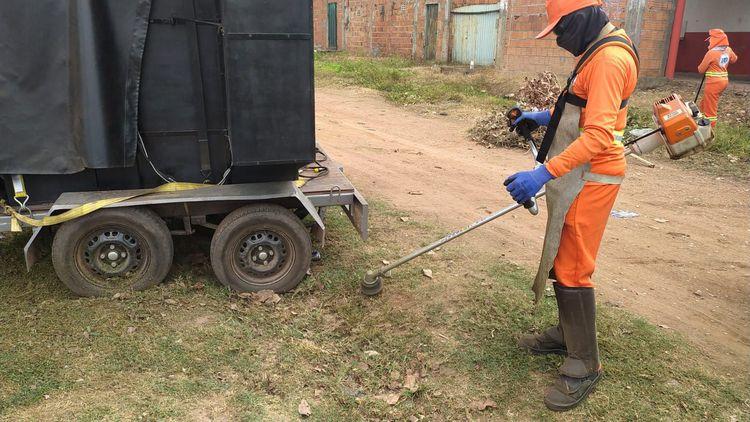 Prefeitura realiza serviços de limpeza geral em Imperatriz