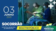 Boletim Socorrão - 03 de Junho