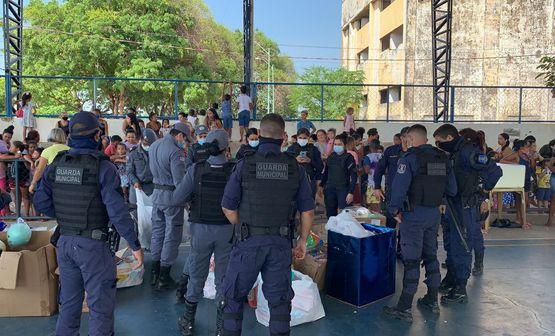 Guarda Municipal realiza ação social no bairro da Caema