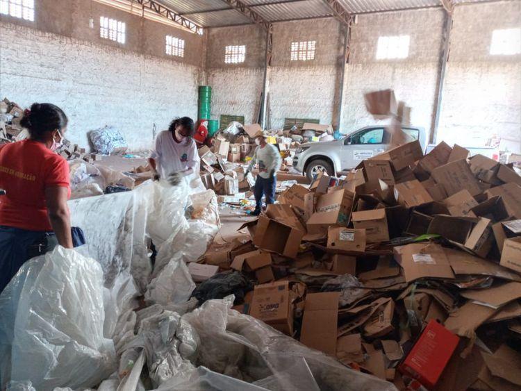 Coleta seletiva atinge mais de 264 toneladas de recicláveis no primeiro semestre de 2021