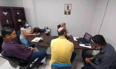 Secretário da Seamo, Alair Firmiano com representantes da GMI, Setran, Defesa Civil e SAMU 192.