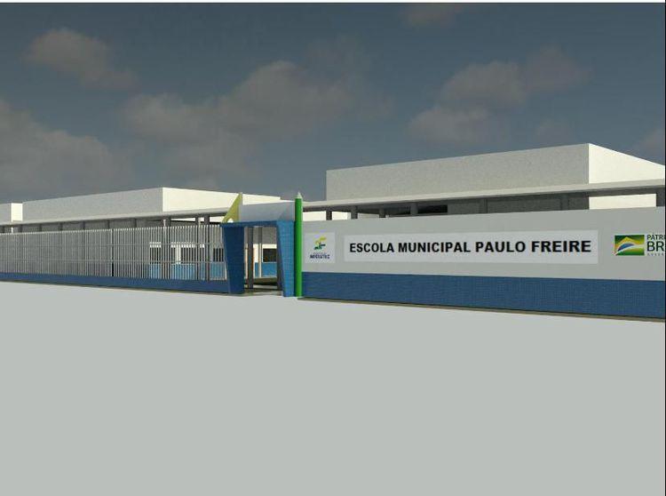 Escola Paulo Freire passará por reforma e ampliação