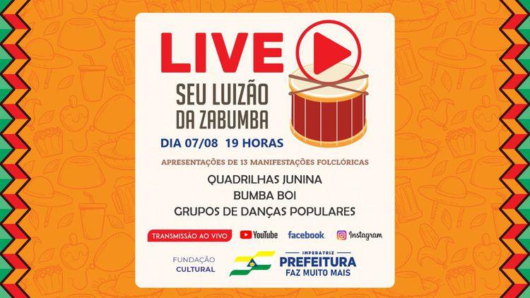 """Fundação Cultural realiza live """"Seu Luizão da Zabumba"""""""